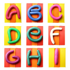 Plasticine alphabet  Letters A-I