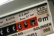Gaszähler mit Eurozeichen im Zählwerk Euro