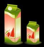 design of packing milky products with fruit poster