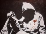 Banksy graffiti at the Cans festival, London - 21351563