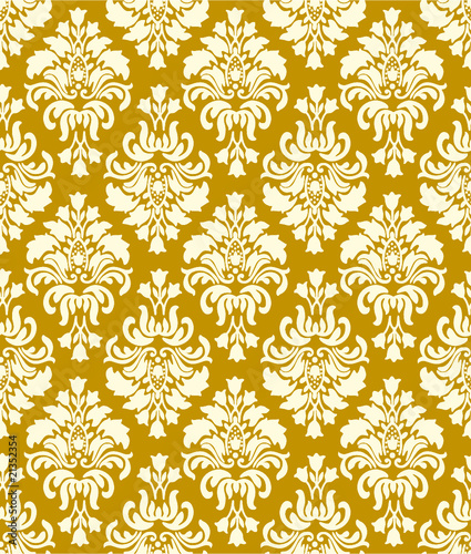 Vintage Wallpaper Pattern Brown