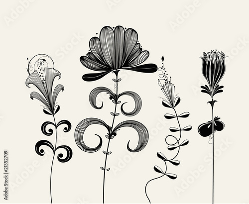 vector flower background © DouDou