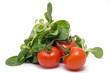 Feldsalat und Tomaten