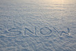 Snow Writing Word