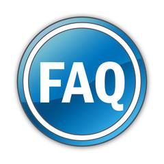 """Glossy Button """"FAQ"""""""