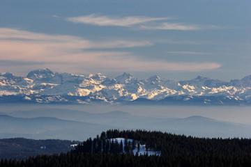 Fernsicht auf die Alpen
