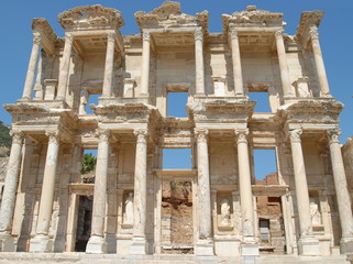 Celsus Library, in Ephesus, Asia Minor, Turkey