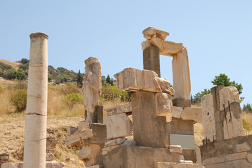 Ruins in Ephesus, Asia Minor, Turkey