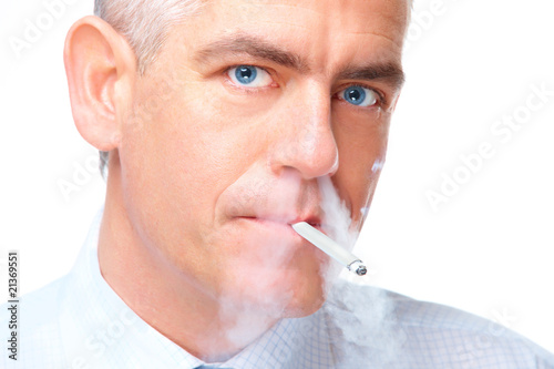 Portrait of smoking man