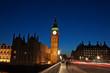 Night shot of the Big Ben in London