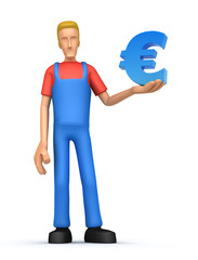 Mechanic with euro