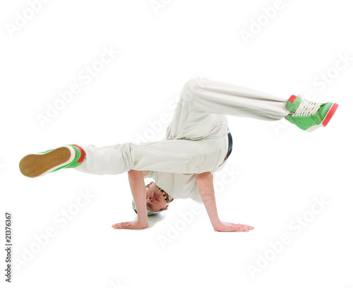 cool hip hop style dancer.breakdance