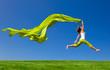 Leinwanddruck Bild - Jumping