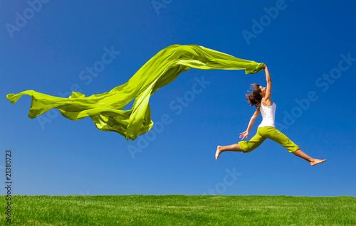 Leinwanddruck Bild Jumping