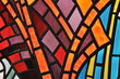 Stained glass window - church - 21381192