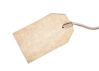 Blank tag isolated on white.