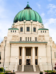 Famous Otto Wagner Art Nouveau / Jugendstilkirche on the Vienna