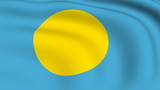 Flying Flag of PALAU | LOOPED | poster