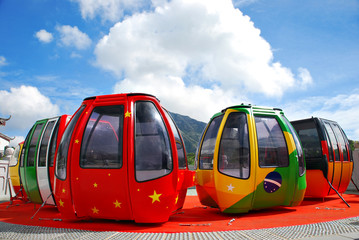 International cable cars in Hong Kong