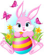 Pink Easter rabbit