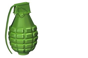 Green grenade Render