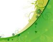 Light green plant frame