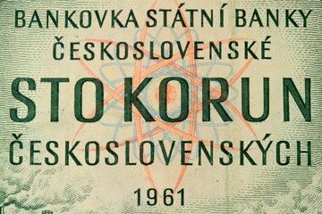 100 Korun aus der Tschechoslovakei 1961
