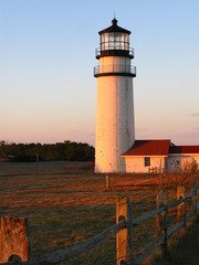 Vertical image cape cod lighthouse at sunrise