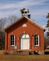 One room schoolhouse front view