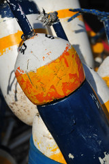 Detail image of a lobster boat fisherman buoy