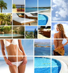 Collage of resort images