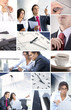 Collage of business images
