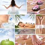 Fototapety Collage of spa images