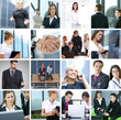 Collage of different business images