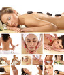 Collage of spa images