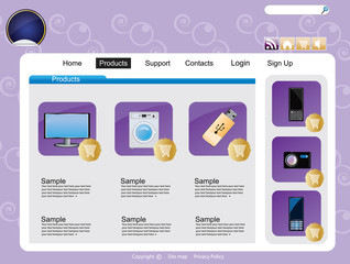 Web site interface v.50