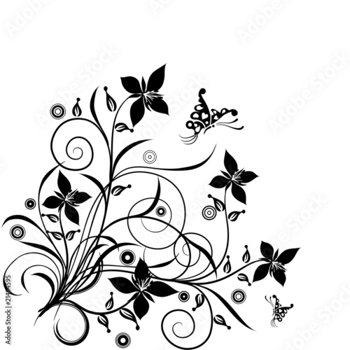 Floral background, vector © Tolchik