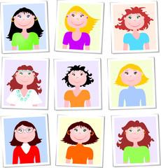 Fototessera - tipi femminili