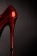 Roter Schuh als Hintergrund - 21411312