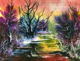 water colour landscape - 21415554