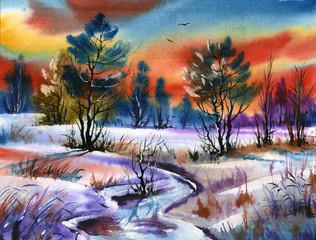 water colour landscape
