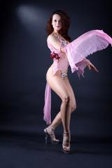 modern dancer against black background