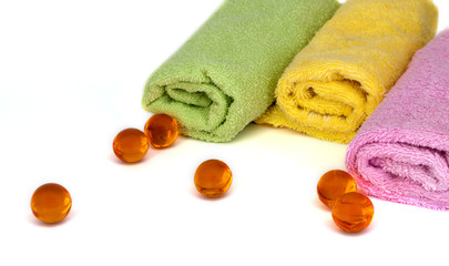 Towels and oil balls