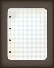 Sheet of old squared grunge  paper