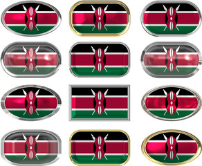 12 buttons of the Flag of Kenya