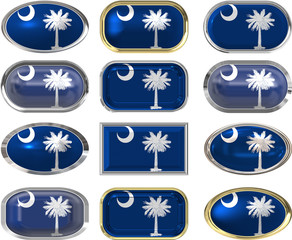 12 buttons of the Flag of South Carolina