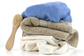 towels and brush