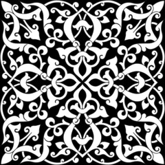 Arabesque Tile BW