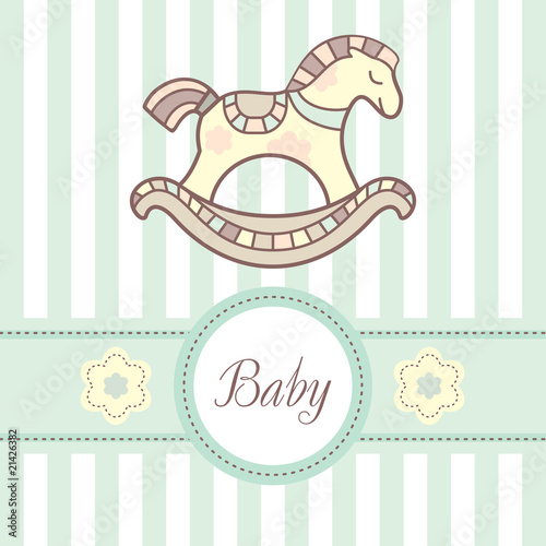 baby card with lovely horsey