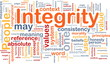 Integrity principles background concept